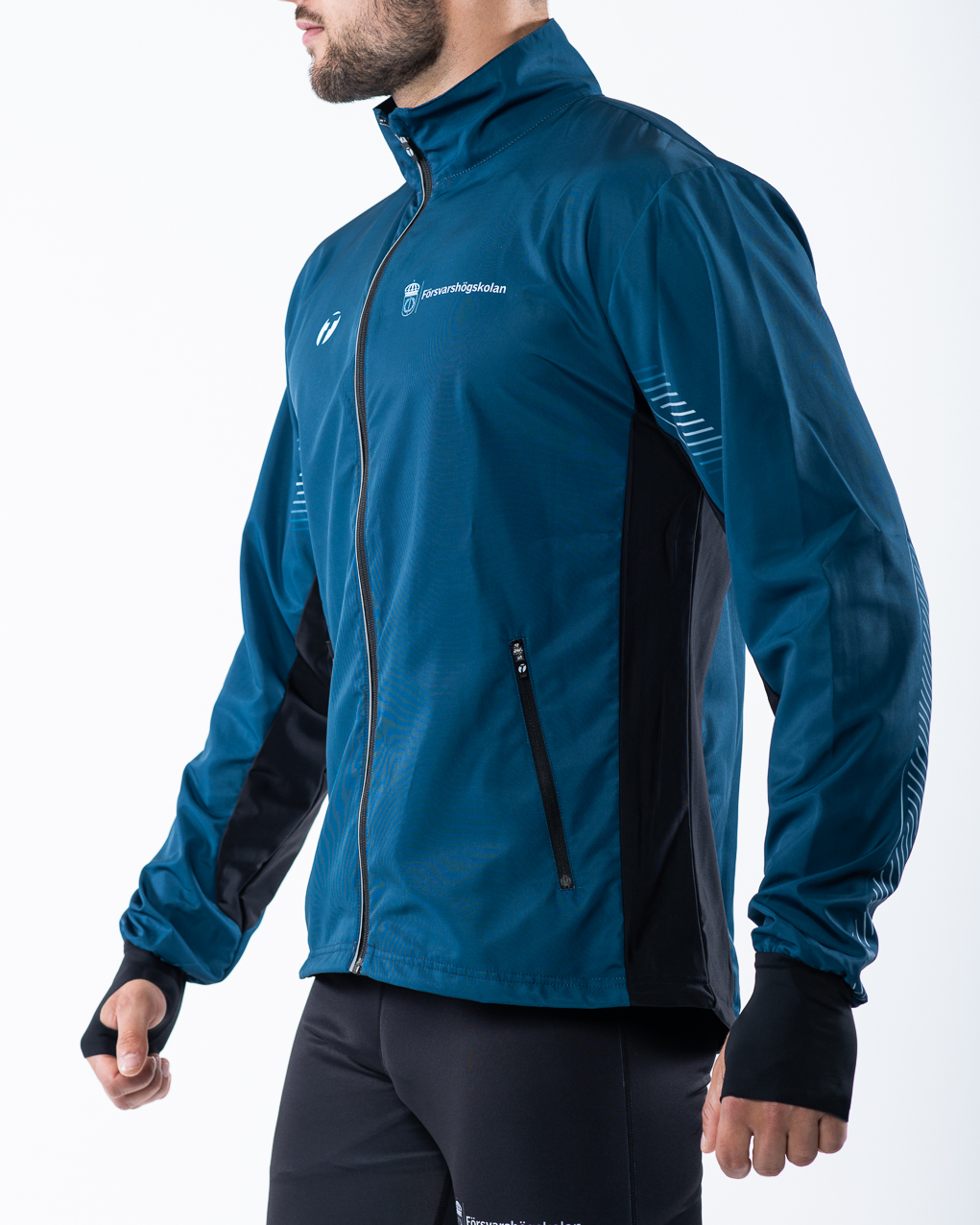 Men's running jacket side