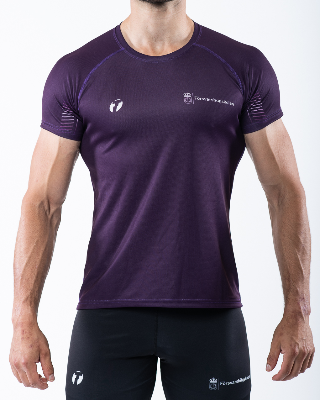 Men's t-shirt, purple, front