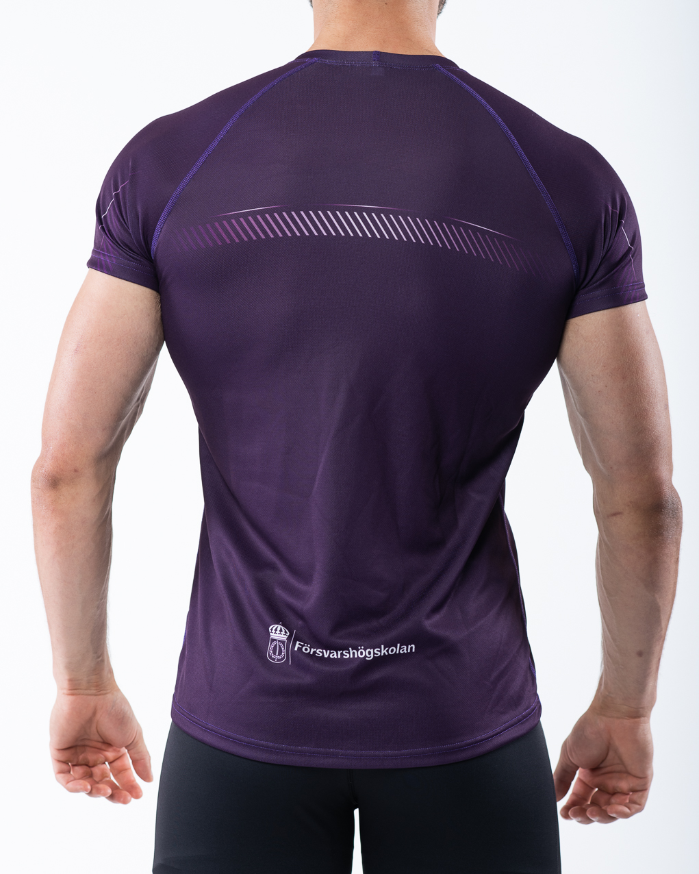 Men's t-shirt, purple, back