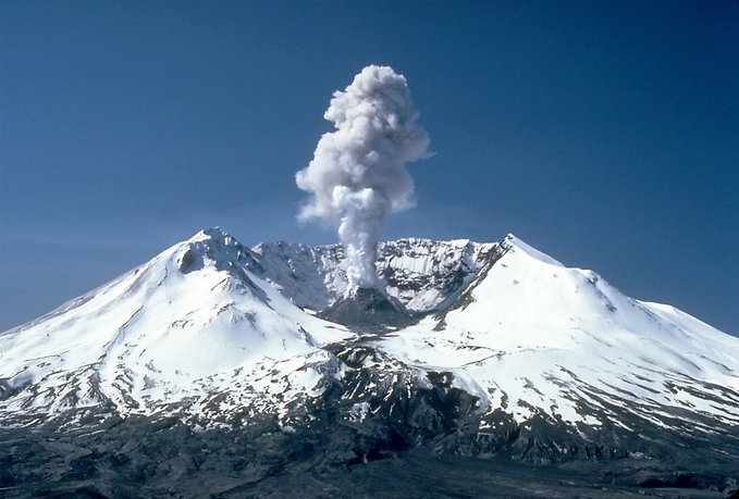 winter view of a volcano